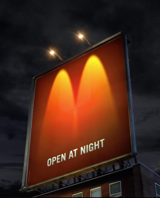 تبلیغات خلاق و هوشمندانه مک دو نالد - Creative ads from-McDonalds