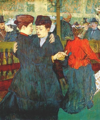 at the moulin rouge two women waltzing 1892
