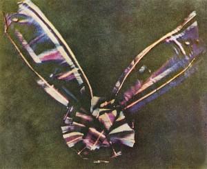 نخستین عکس رنگی در تاریخ که از یک رویان که در سال ۱۸۶۱ توسط جیمز کلرک ماکسول عکسبرداری شده.