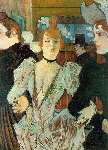 La Goulue arrivant au Moulin Rouge