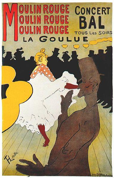moulin rouge, la goulue (poster) 1891